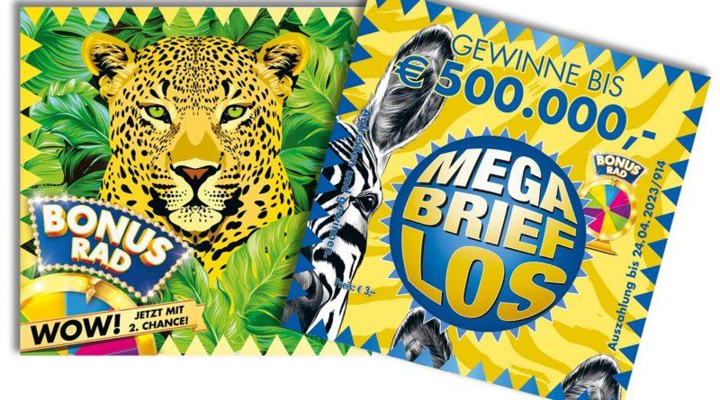 """Der """"Leopard"""" bescherte einer Niederösterreicherin eine halbe Million Euro Gewinn. Die aktuelle Mega Brieflos-Serie heißt """"Zebra"""", ebenfalls mit 500.000 Euro Hauptgewinn. © Öster. Lotterien"""